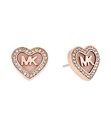 Michael Kors Valentines Day Pav Heart Stud Earrings #Dillards