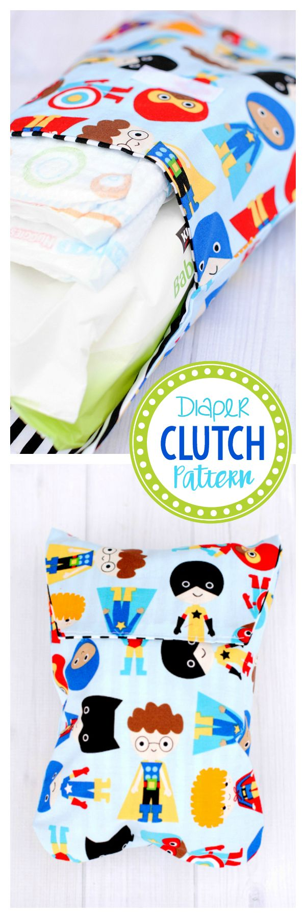 Cute and Easy Diaper Clutch Pattern-Great for a New Mom and Makes a Great Baby Shower Gift!
