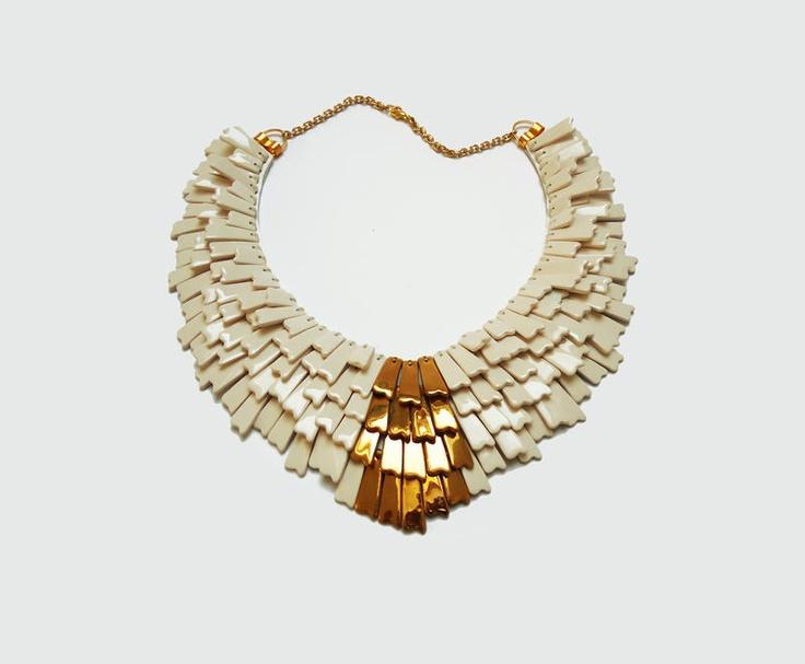 White Necklace   Designercraft.eu