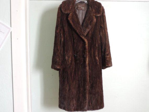 1960's Vintage Mink Coat Alfred Boge Furriers by used2bnewVintage