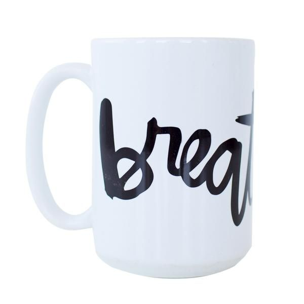 Quiet your mind. Focus on what is important. Spend some time reading God's word. Invest your energy into your relationship with Him: talking to Him and listening to Him. Let your soul find rest in Him. Our 15 oz. ceramic mug features our design wrapped around the whole mug and a large handle. Dishwasher and microwave safe.
