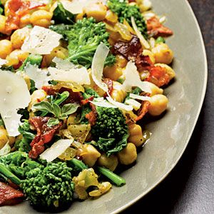 Chickpeas with Broccoli Rabe and Bacon | MyRecipes.com