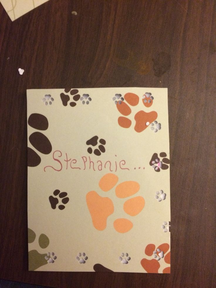 Front of Stephanie's card