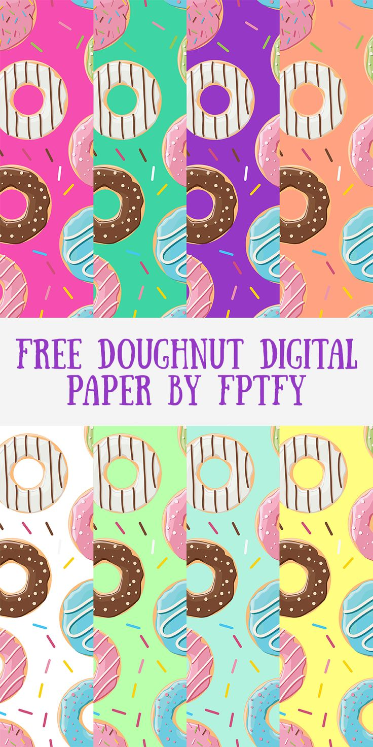 Free Doughnut Digital Paper