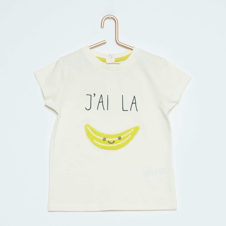 Tee-shirt en coton patch bouclette 'banane' Bébé garçon - Kiabi - 5,00€