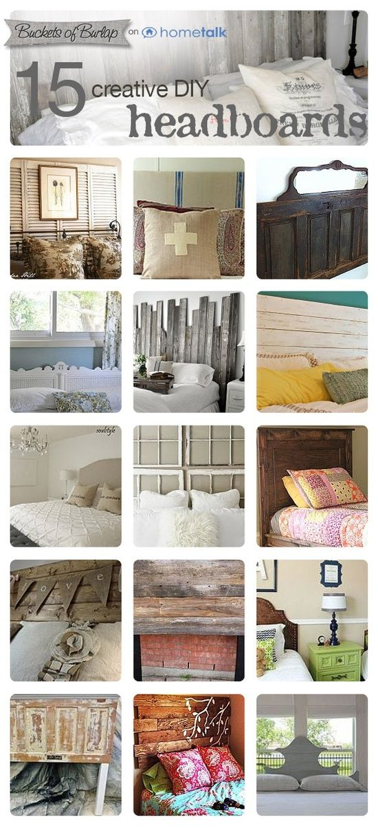 DIY:: #15 Beautiful Budget Headboard Projects ! All Of These Would Make Timeless  Decor on a Dime ! Tutorials For Each !