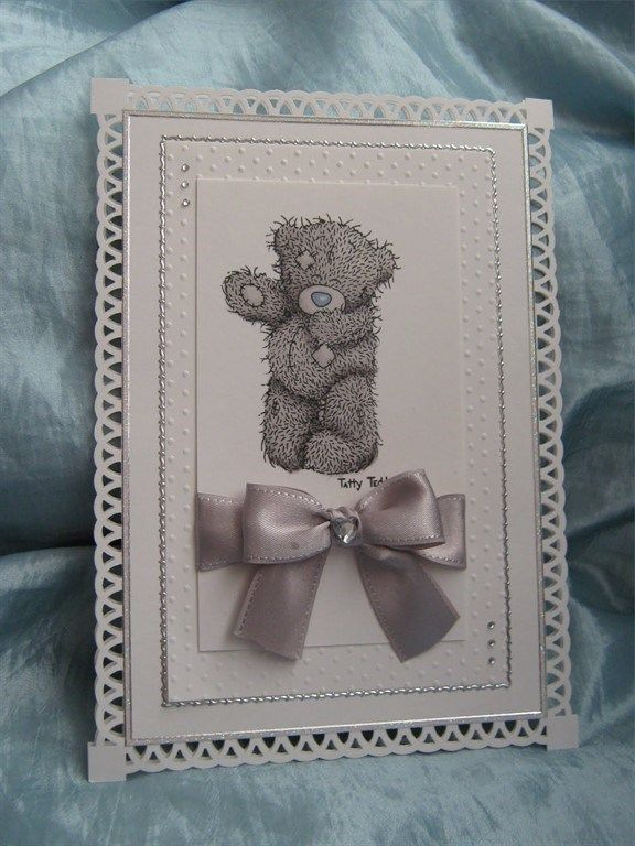 Me to you Tatty Teddy- Clean and simple card | docrafts.com