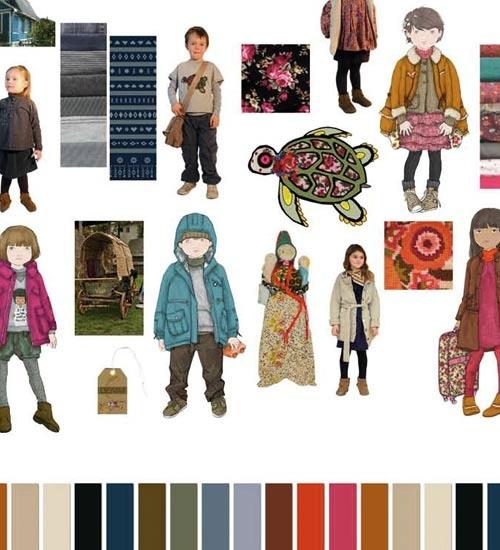 """World Remix"" Winter (Invierno) Children's Clothing Color Trends 2012 Peclers for CIFF (Copenhagen International Fashion Fair { via Nuestros Hijas }"