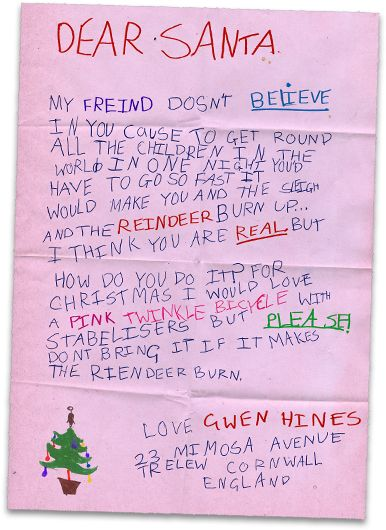 Best Letters To Santa Images On   Santa Clause