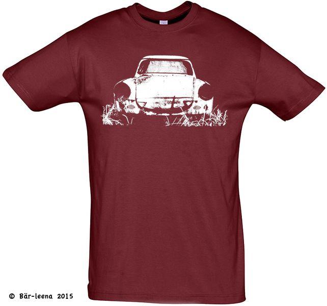 T-Shirts mit Print - T-Shirt Männer Trabbi (Trabant 500) navy - ein Designerstück von Baer-leena bei DaWanda