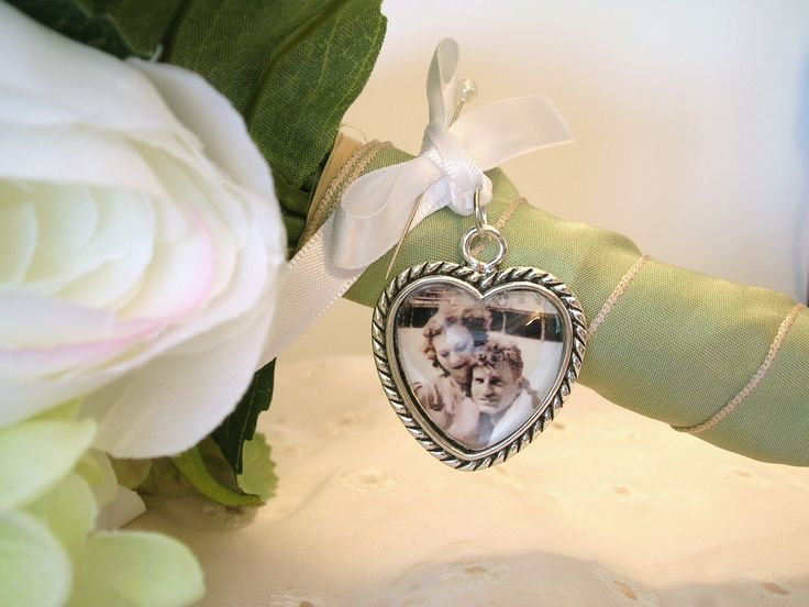 Bridal Bouquet Memory Charm Heart Photo Wedding Gift