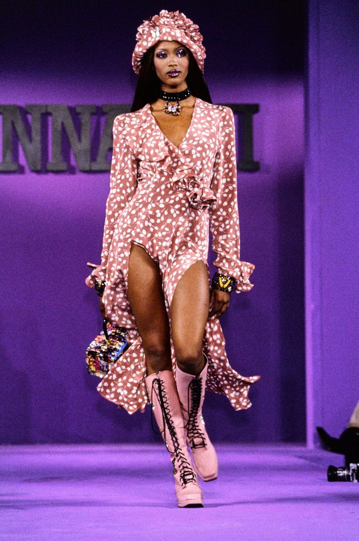 Naomi Campbell for Anna Sui Spring 1993