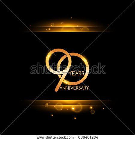 90 years golden anniversary celebration logo
