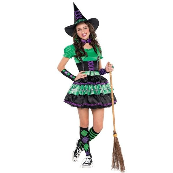 teen wicked cool witch costume 72 brl liked on polyvore featuring costumes - Salem Witch Halloween Costume