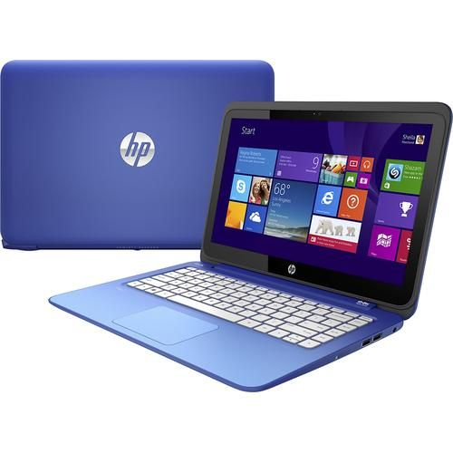 "HP - Stream 13.3"" Touch-Screen Laptop - Intel Celeron - 2GB Memory - 32GB Flash Storage - Horizon Blue/Light Turquoise"