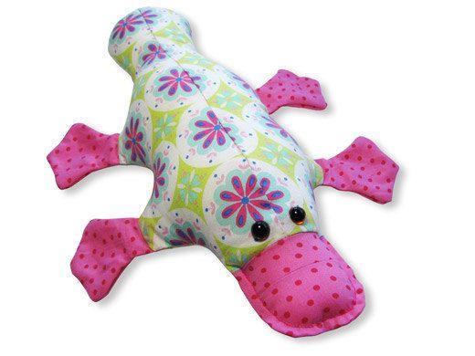 SEWING PATTERN Funky Friends Factory Plattie Platypus Softie Toy Cute Boys Girl