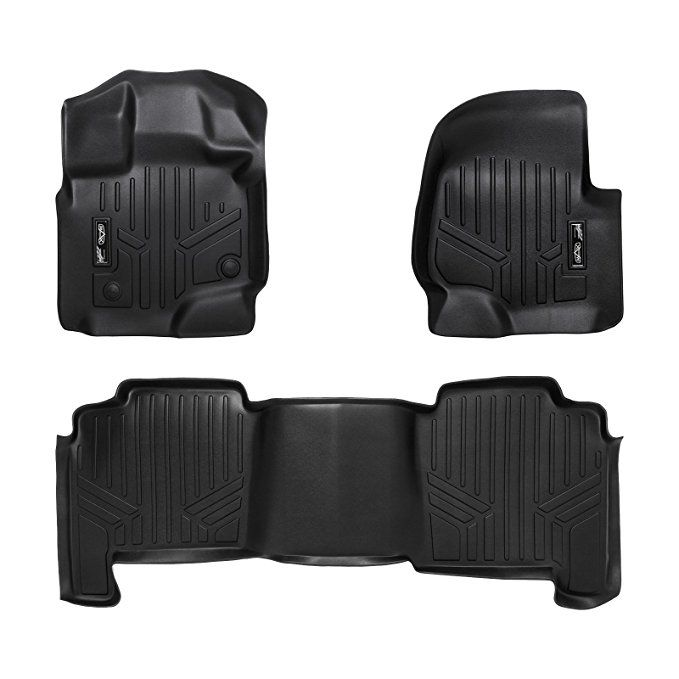 Smartliner Floor Mats 2 Row Liner Set Black For 2004 2008 Ford F