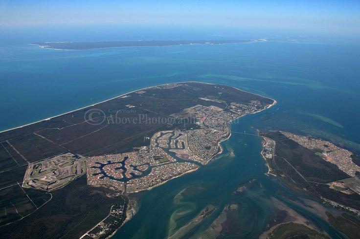 bribie island from air
