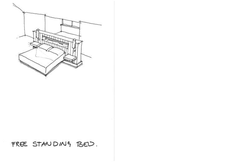 sketch for a bedroom unit