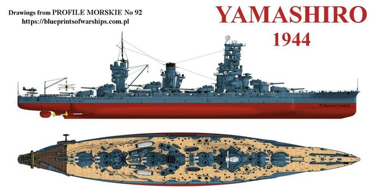 ijn battleship yamashiro 1944 warships diagram 70. Black Bedroom Furniture Sets. Home Design Ideas