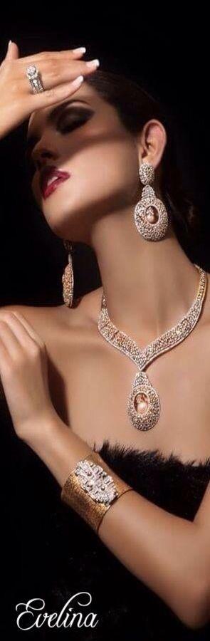 jewelry in blue box Diamonds
