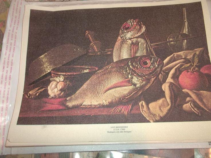 Vintage Spanish Restaurant Menu Spain Luis Menedez Art Salmon on Cover 1980