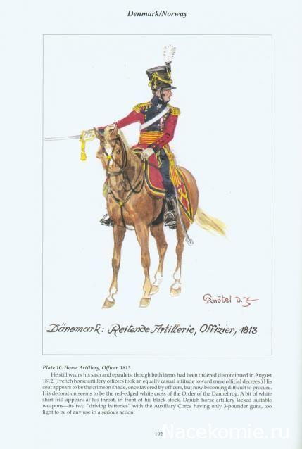 Danemark Horse artllery officer 1813