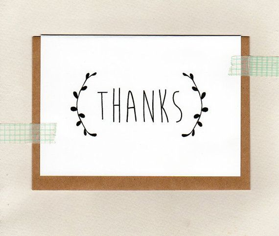 THANK YOU . greeting card . oz au australia by ThePaisleyFive