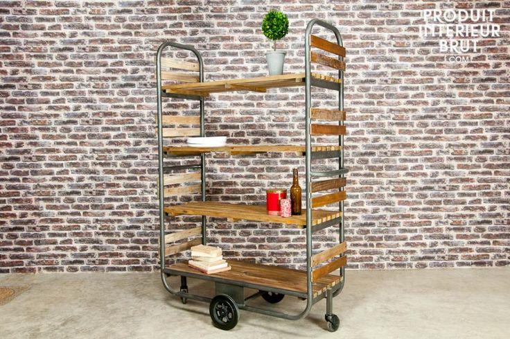 Il carrello portavivande Brooklyn è perfetto per una cucina ma anche per una sala da pranzo. Porterà a casa vostra un bellissimo stile vintage!