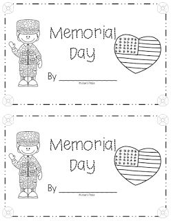 FREE Memorial Day emergent reader and ideas for Memorial Day. Great for K and 1!