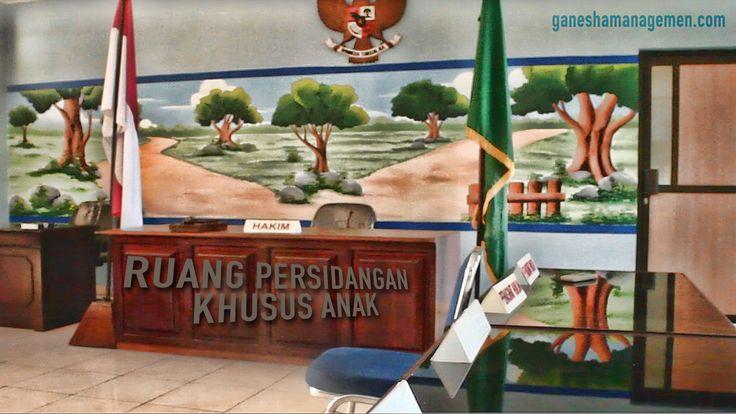 suasana ruang persidangan anak di Pengadilan Negeri Kota Pangkalpinang
