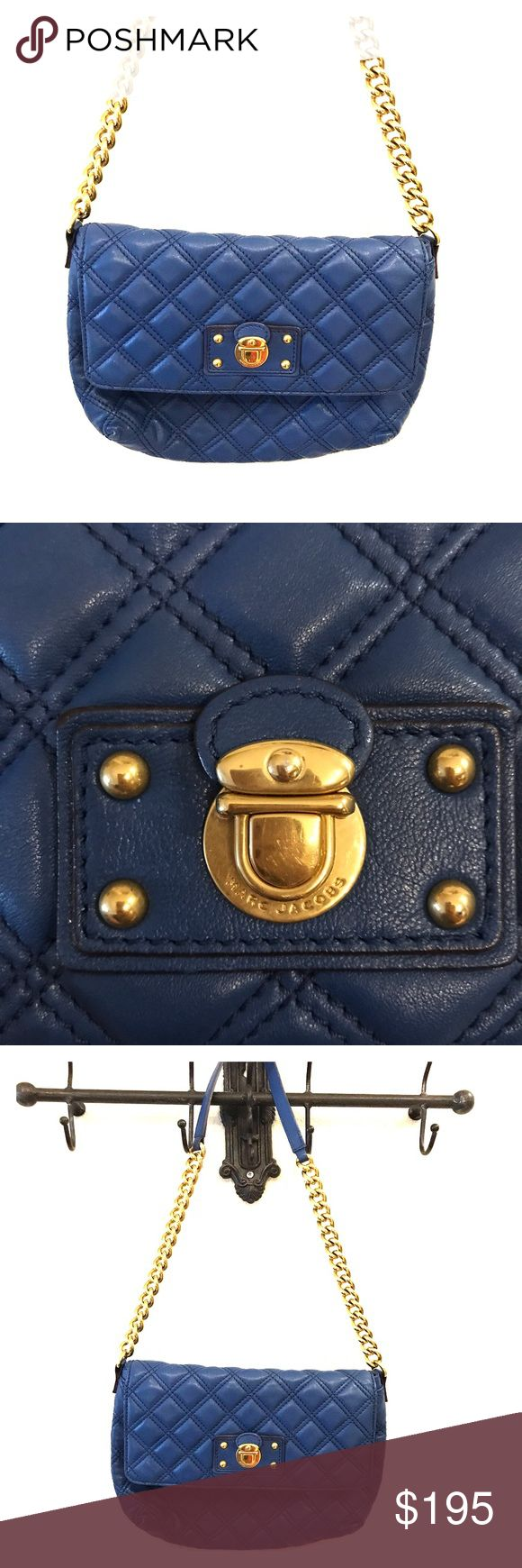 Selling this Marc Jacobs Blue Quilted Leather Purse on Poshmark! My username is: hultzie. #shopmycloset #poshmark #fashion #shopping #style #forsale #Marc Jacobs #Handbags