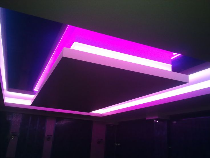 LED подсветка потолка 2 уровня