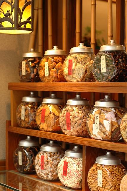 Traditional Rice-Cracker Shop 日本,お土産屋,せんべい