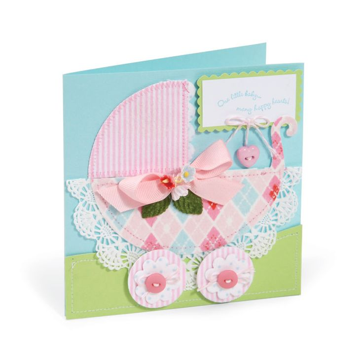 Nice Sizzix Card Making Ideas Part - 9: Baby Carriage Card By Debi Adams - Scrapbook.com