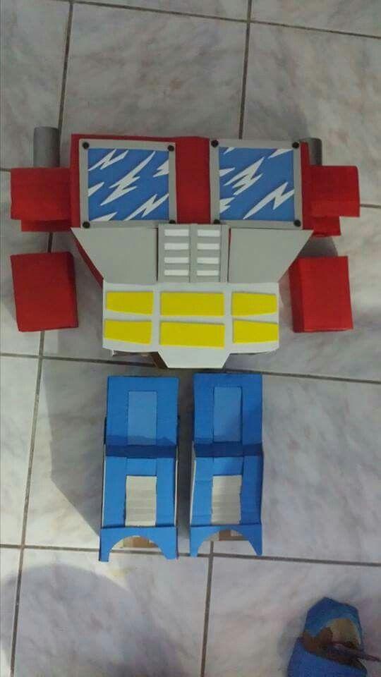 Disfraz d carton de transformers