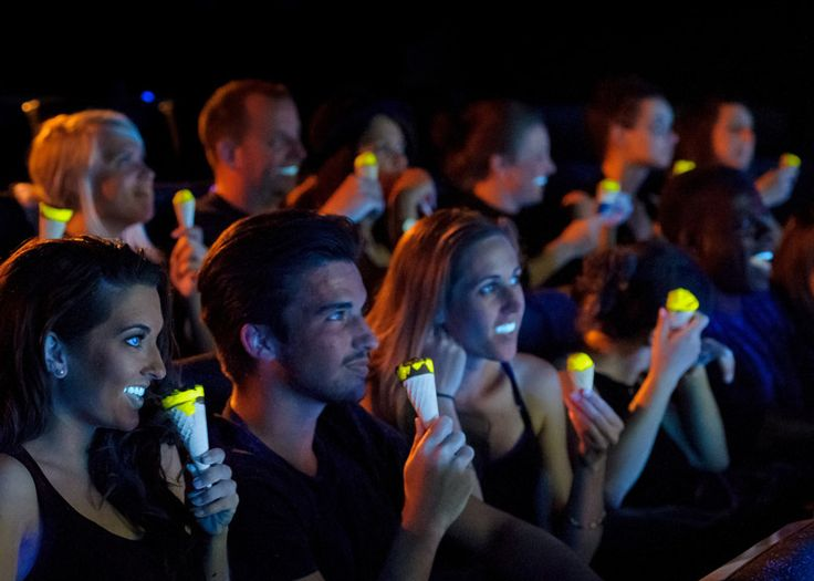 Luminescent ice cream created so cinema-goers can see their snacks in the dark.