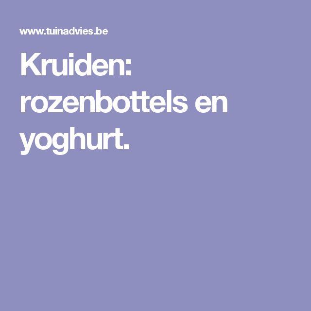 Kruiden: rozenbottels en yoghurt.