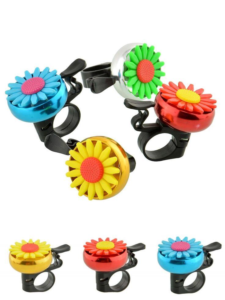 Cuty Flower Beautiful Bike Bicycle Cycling Handlebar Metal Ring Horn Sound Bell
