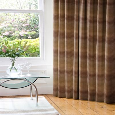 Whiteheads Cheyenne Moss/Taupe Lined Pencil Pleat Curtains- at Debenhams.com