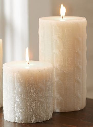 Candle - Looks like those favorite Irish sweaters I like so much.  So cozy :)