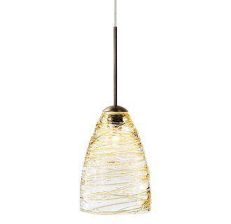 Kitchen Pendant Amber Glass Colored Lbl Lighting