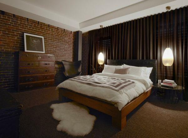 Ideen für männliche Schlafzimmer, Design