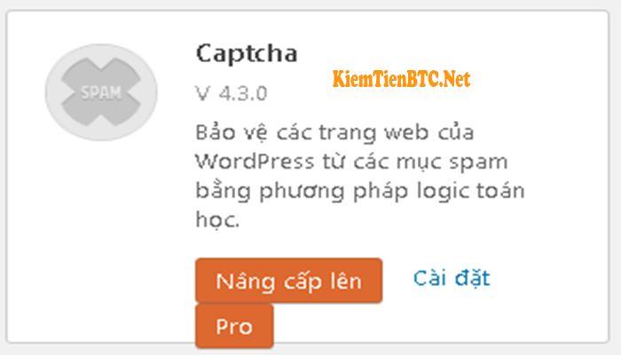 Chống spam cho WordPress với plugin Captcha BWS