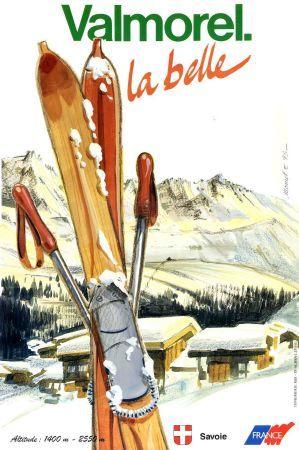 VALMOREL LA BELLE - affiche promotionnelle 1993...reépinglé par Maurie Daboux ◡ً❤