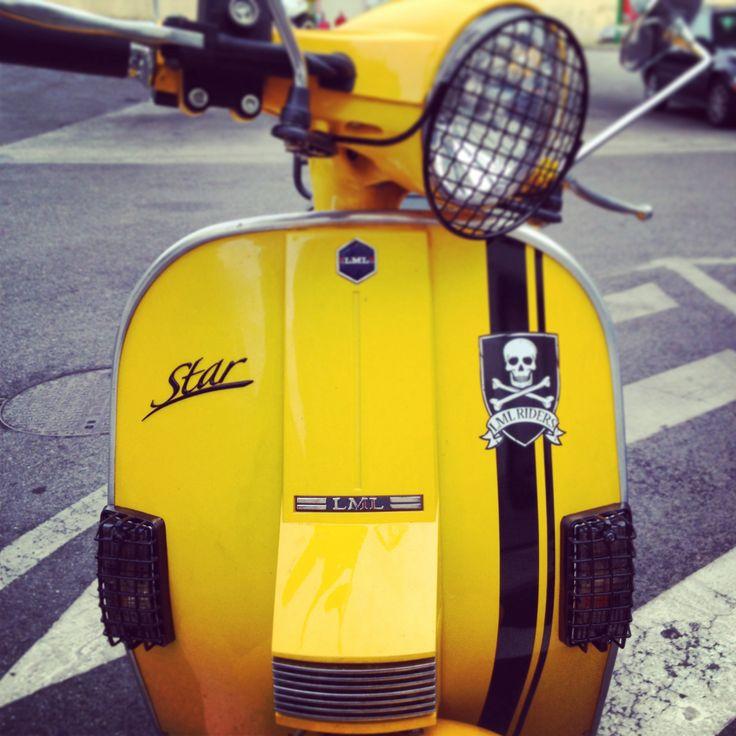 LML Star 125 4 Stroke Auto #lml #lmlmoto #lmlbike #bike #moto #yellow #skull #vespa #custom #lisboa #portugal #lmlownersclubportugal #star #lmlstar #lml125 #rider #black #vespa #px #lml #scooter