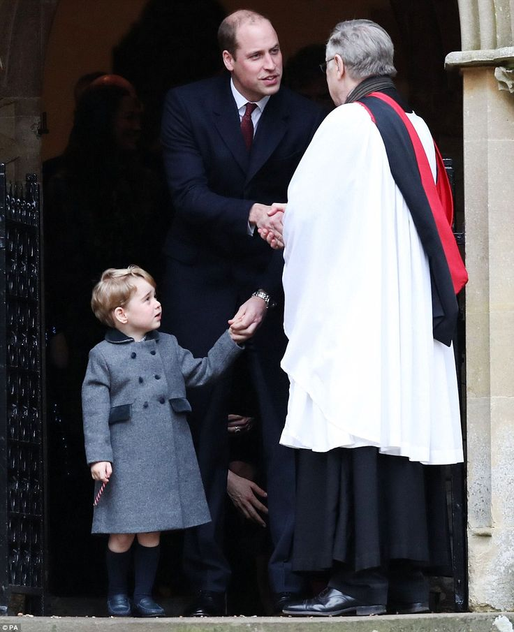 As he took part in the service in Berkshire, Prince William's grandmother was absent from ...