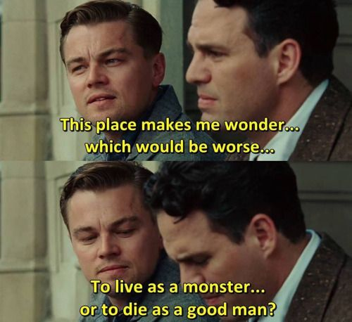 Movie buff or lover of movie quotes? Check cinemaplatic out! cinemaplatic · Follow. Unfollow · shutter island