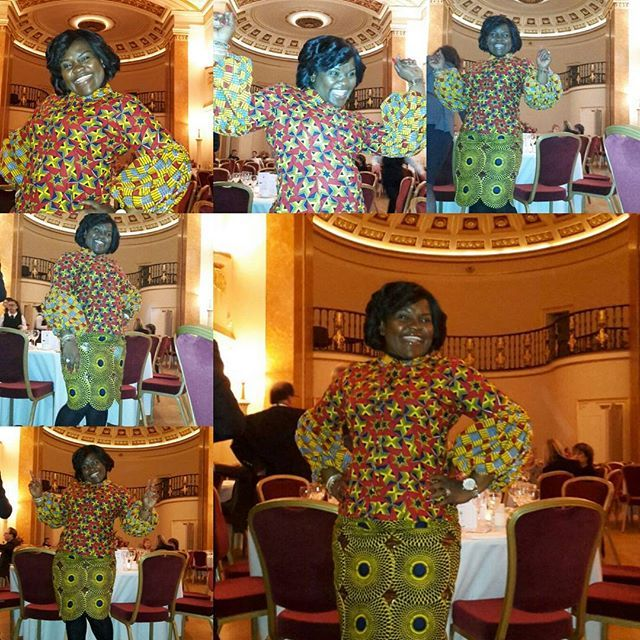 7th Biennial IBA GLOBAL Dinner Conference @ Lansdowne Club. ky Lovely and very Wild  daring combo outfit by urs truly Ophelia Crossland and Chic by Siba!!! Top by @ophelia_crossland and skirt by @sibaadom. Thank you ladies I decided not to wear my formal dinner dress but to showcase to the whites how innovative we are as Ghanaians...