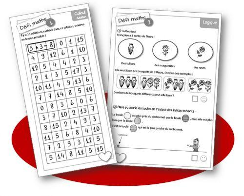 Défis maths : additions et soustractions cachées. Niveau 1ère